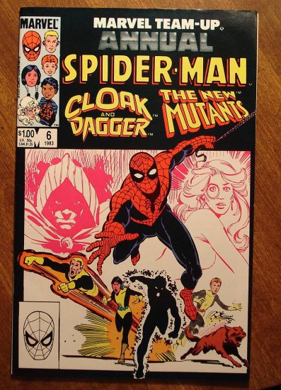 Marvel Team-Up Annual #6 Spider-man & Cloak & Dagger & The New Mutants comic book Marvel comics