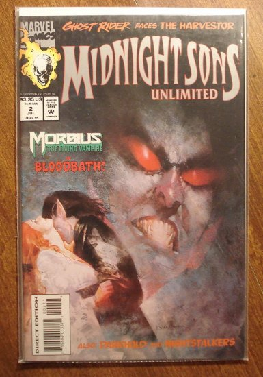 Midnight Sons Unlimited #2 comic book - Marvel comics