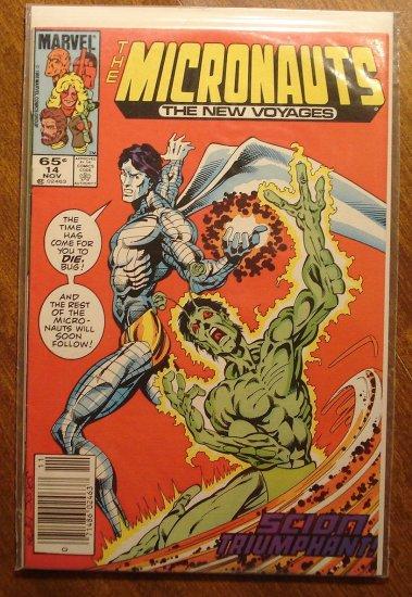 Micronauts: The New Voyages #14 comic book - Marvel comics