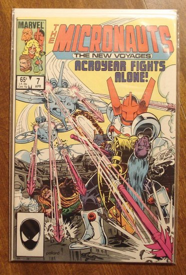 Micronauts: The New Voyages #7 comic book - Marvel comics