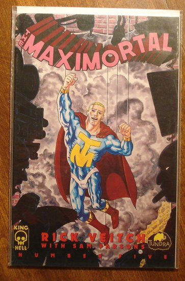 MaxiMortal #5 comic book - King Hell Comics - Rick Veitch