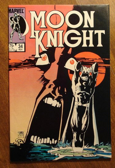 Moon Knight #34 (1980's series) comic book - Marvel Comics