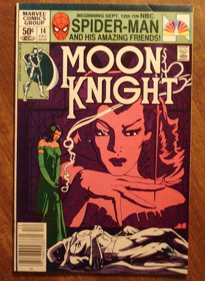 Moon Knight #14 (1980's series) comic book - Marvel Comics