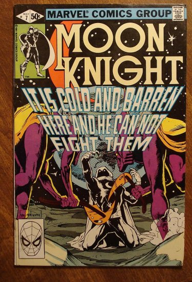 Moon Knight #7 (1980's series) comic book - Marvel Comics