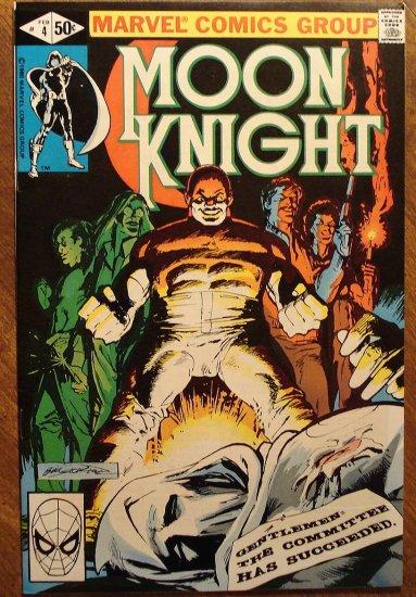 Moon Knight #4 (1980's series) comic book - Marvel Comics
