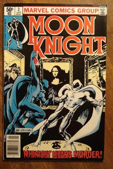 Moon Knight #3 (1980's series) comic book - Marvel Comics