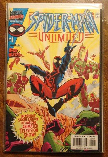 Spider-Man (spiderman) Unlimited #1 comic book (1999) - Marvel 'Animated' Comics