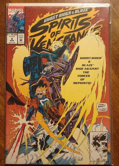 Ghost Rider & Blaze: Spirits of Vengeance #8 comic book - Marvel Comics