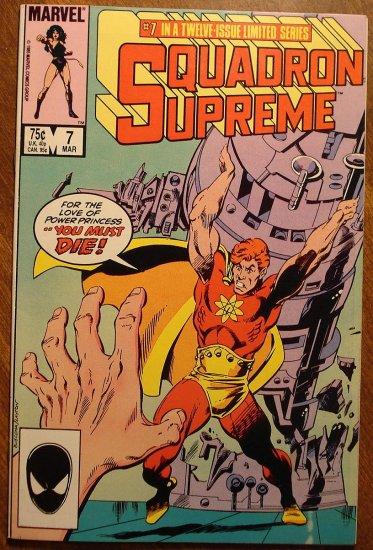 Squadron Supreme #7 (1980's) comic book - Marvel Comics