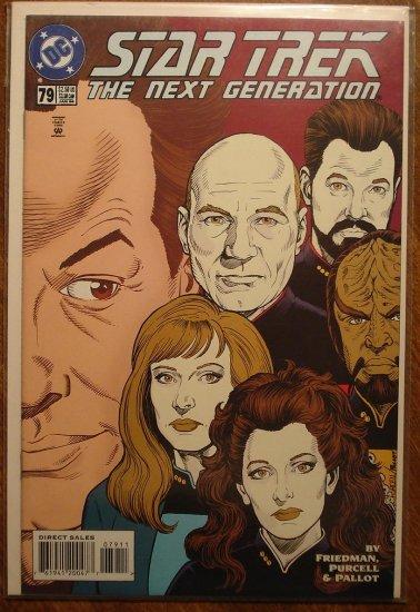 Star Trek: The Next Generation #79 comic book - DC Comics