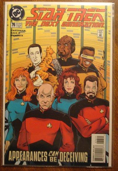 Star Trek: The Next Generation #76 comic book - DC Comics