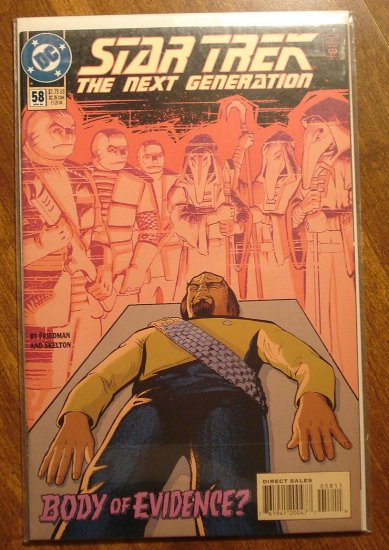 Star Trek: The Next Generation #58 comic book - DC Comics