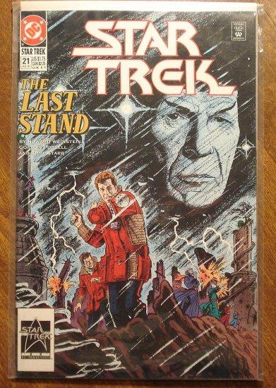 Star Trek #21 comic book  - DC Comics