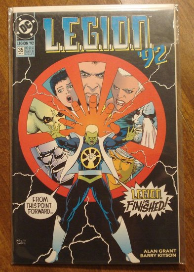 L.E.G.I.O.N. '92 #35 comic book - DC Comics, Legion of Super-Heroes, LSH