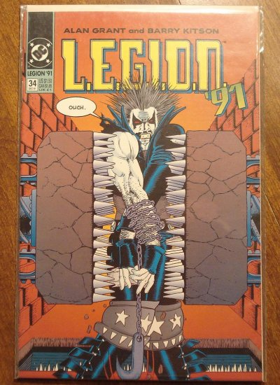 L.E.G.I.O.N. '91 #34 comic book - DC Comics, Legion of Super-Heroes, LSH