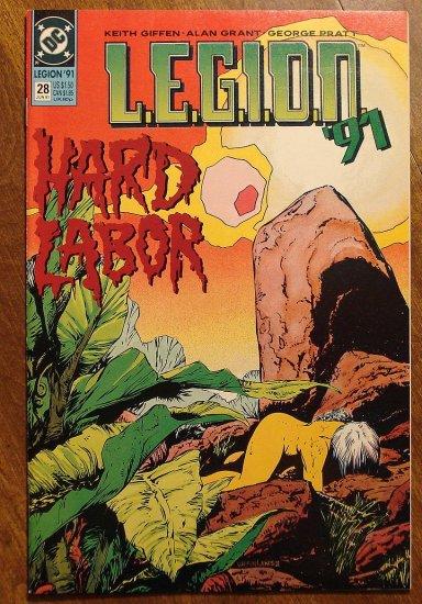 L.E.G.I.O.N. '91 #28 comic book - DC Comics, Legion of Super-Heroes, LSH