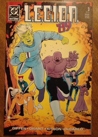 L.E.G.I.O.N. '89 #3 comic book - DC Comics, Legion of Super-Heroes, LSH