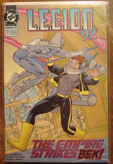 L.E.G.I.O.N. '92 #37 comic book - DC Comics, Legion of Super-Heroes, LSH