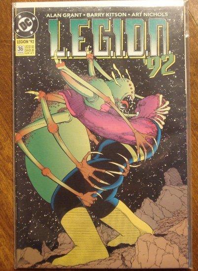 L.E.G.I.O.N. '92 #36 comic book - DC Comics, Legion of Super-Heroes, LSH