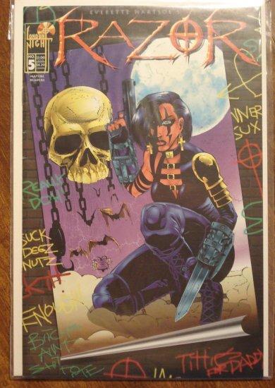Razor #5 comic book - London Night comics - adults only!