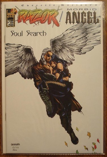 Razor & Morbid Angel #2 comic book - London Night comics - adults only!
