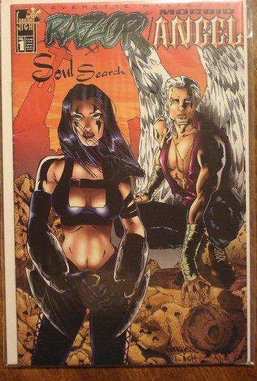 Razor & Morbid Angel #1 comic book - London Night comics - adults only!