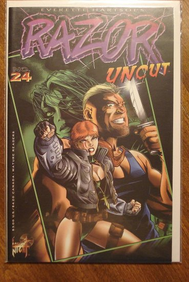 Razor Uncut #24 comic book - London Night comics - adults only!