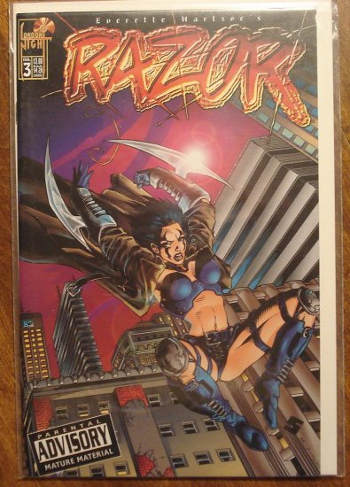 Razor #3 comic book (BOTH COVER VARIATIONS) - London Night comics - adults only!