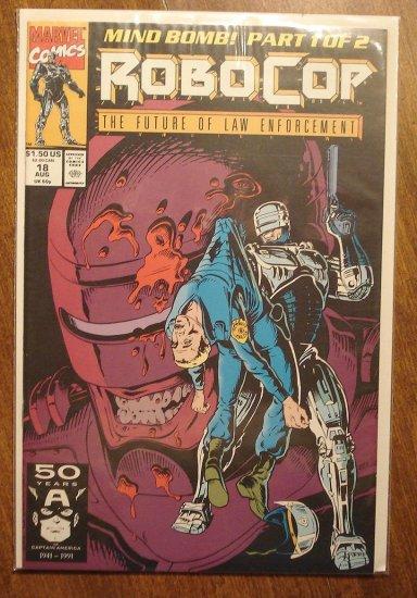 RoboCop #18 comic book - Marvel Comics
