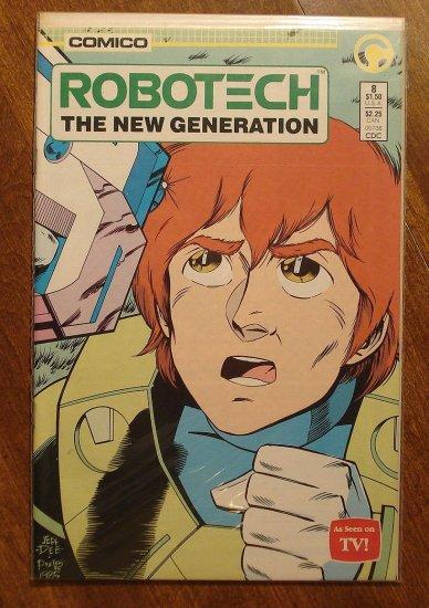 Robotech: The New Generation #8 comic book - Comico Comics