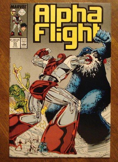 Alpha Flight #55 comic book - Marvel Comics