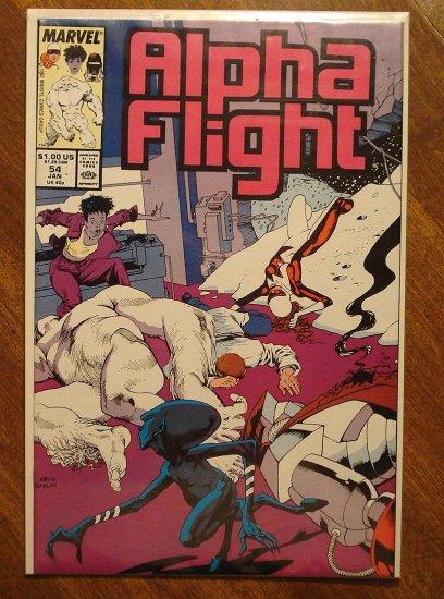 Alpha Flight #54 comic book - Marvel Comics