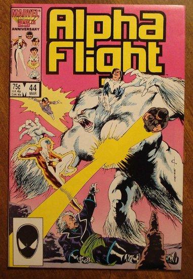 Alpha Flight #44 comic book - Marvel Comics