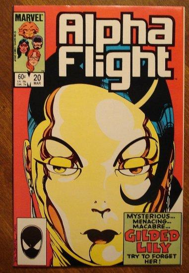 Alpha Flight #20 comic book - Marvel Comics