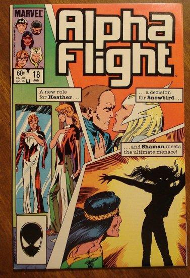 Alpha Flight #18 comic book - Marvel Comics