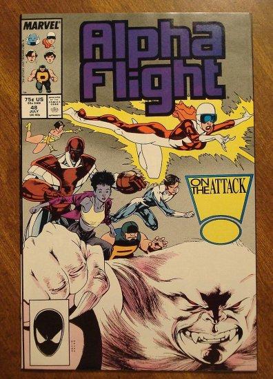 Alpha Flight #48 comic book - Marvel Comics