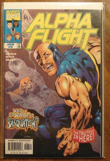 Alpha Flight #6 (1990's series) comic book - Marvel Comics