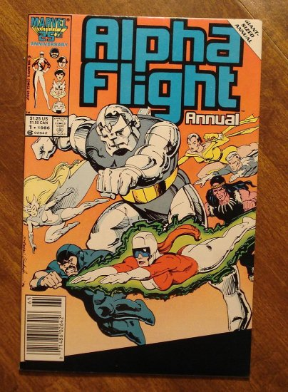 Alpha Flight Annual #1 comic book - Marvel Comics