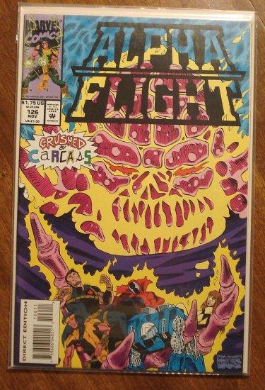 Alpha Flight #126 comic book - Marvel Comics