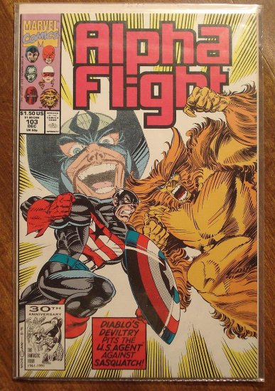 Alpha Flight #103 comic book - Marvel Comics