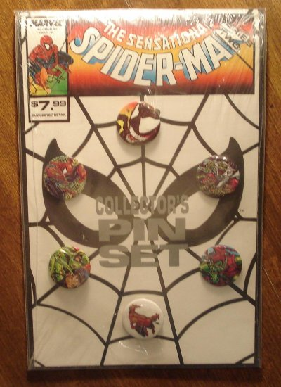 Spectacular Spider-Man Collector's Pin (button) set - series #2, MIP - never opened!