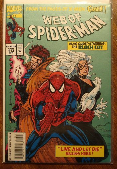 Black Cat Spider Man Comic