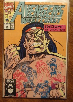 Avengers West Coast #72 comic book - Marvel Comics