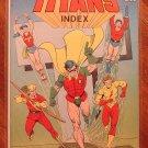 The Official Teen Titans Index #1 comic book - ICG comics