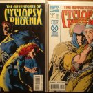 Adventures of Cyclops & Phoenix #'s 1 & 2 comic book - Marvel Comics, X-Men, mutants