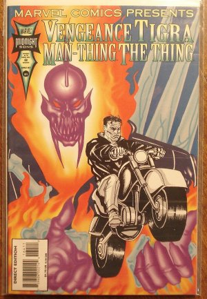 Marvel Comics Presents #164 comic book, Vengeance, Tigra, The Thing, Man-Thing