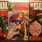 Solo #'s 1, 2, 4 comic book - Marvel comics - with Spider-Man!