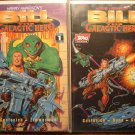 Bill The Galactic Hero #1 & 2 deluxe format comic book - Topps Comics