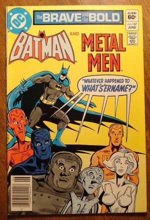 Brave & The Bold #187 comic book, Batman & Metal Men - DC comics