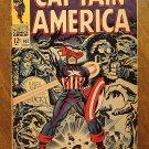 Captain America #107 comic book, 1968, Jack Kirby art, Marvel comics